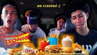 SONIC MUKBANG: Eli Crashed The Car....