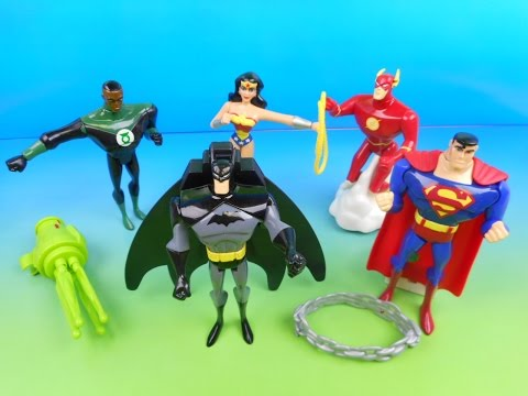 2003 DC JUSTICE LEAGUE SUPER HEROES SET OF 5 JOLLIBEE KID'S MEAL TOY'S VIDEO REVIEW