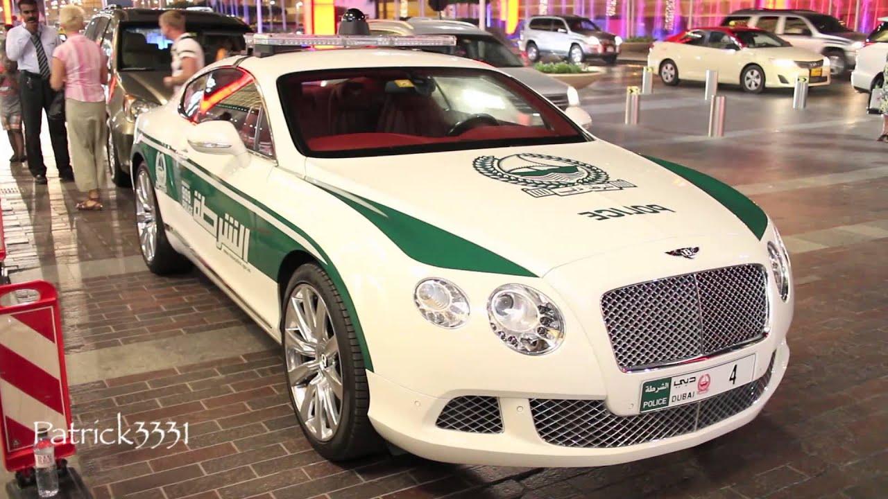 Dubai Police Bentley Continental Gt Youtube