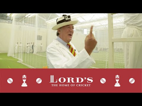 Stephen Fry vs Hawk-Eye - Umpire Challenge