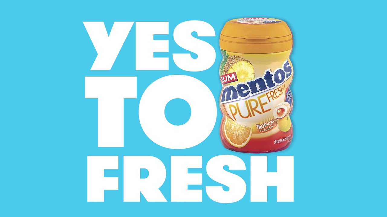 Say YES TO FRESH with Mentos Gum