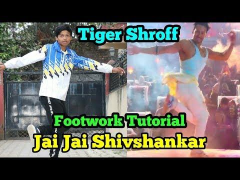 Jaijai Shivshankar  Tiger Shroff Footwork Dance Tutorial  Hrithik Roshan  War  Asquare Crew