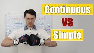 Present Continuous VS Present Simple (сравнение Настоящего Продолженного и Простого времени)