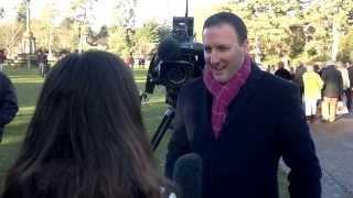 Royal sky-News reporter-Paul Harrison wearing hot pink trousers