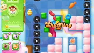 Candy Crush Jelly Saga Level 1555 (3 stars, No boosters)