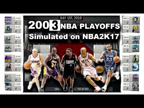 2003 NBA PLAYOFFS SIMULATED IN NBA 2K17!!!