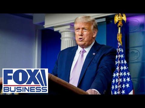 Trump holds press conference after Biden, Harris deliver remarks