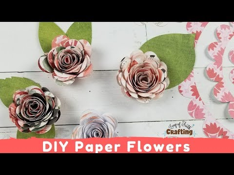 How to Make Paper Flowers with a Cricut
