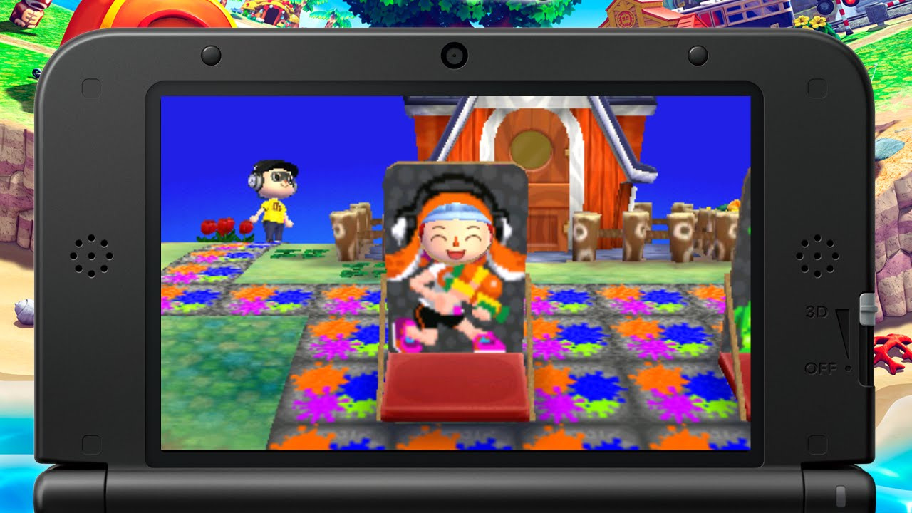 splatoon nintendo dream village in animal crossing new leaf youtube