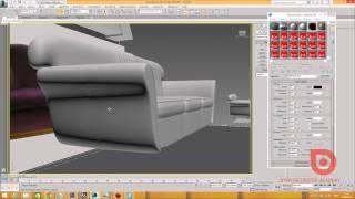 3Ds MAX. Обучение. Моделлинг дивана. 3Ds MAX. С нуля