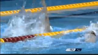Паралимпийские игры. Женщины, 100м сп., S11, предв. заплыв.