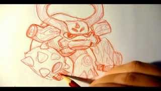 How to Draw Skylanders Tree Rex - Drawing Skylanders Giants Characters