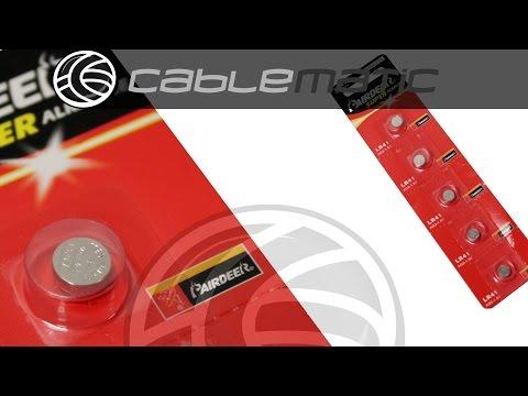 Pila de botón LR44 AG13 1.5V paquete de 5 unidades distribuido por CABLEMATIC ®