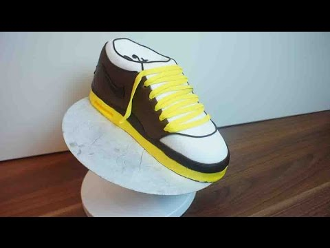 sneaker torte nike schuh kuchen tutorial schuh torte von kuchenfee youtube. Black Bedroom Furniture Sets. Home Design Ideas