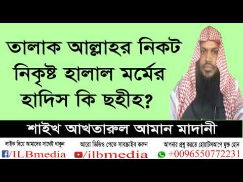 talak allahr nikot nikristo halal mormer hadis ki sahih?  sheikh akhtarul aman madani
