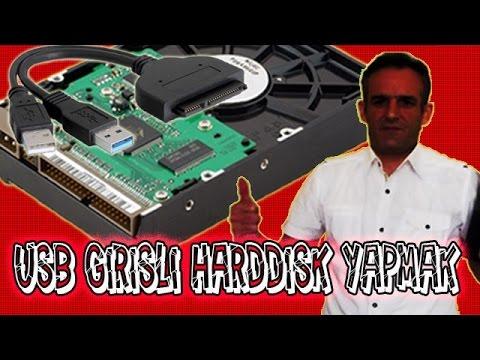 USB Girişli Taşınabilir Harddisk Nasıl Yapılır