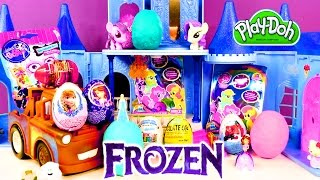 Frozen Spongebob Barbie My Little Pony Cars Sofia The First Play Doh Kinder Surprise Eggs by DCTC