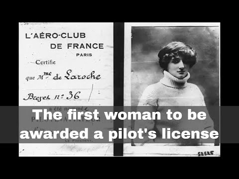 8th March 1910: First woman awarded a pilot's license