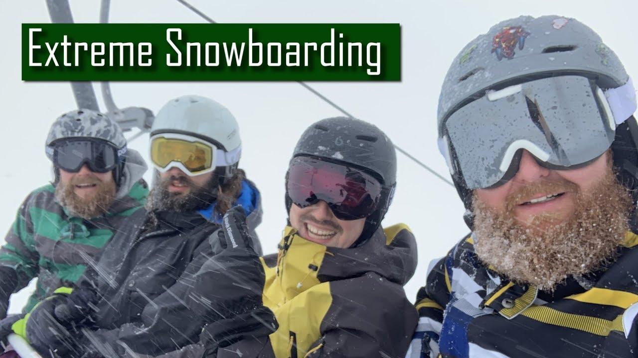 Snowboarding in Kleinwalsertal, Austria