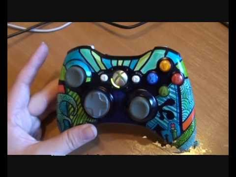Custom [Sharpie] Xbox 360 Controller - Blue, green and ...