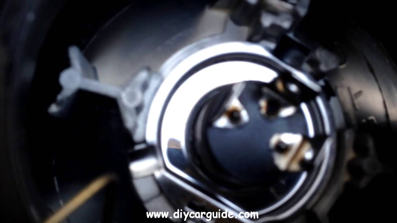 nissan micra headlight bulb change - youtube