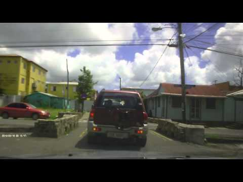 Driving in Antigua - Across Town (north to south)