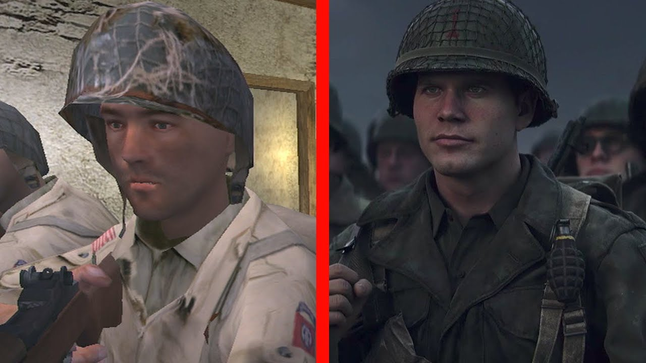 Call of Duty (2003) vs Call of Duty: WW2 Graphics Comparison