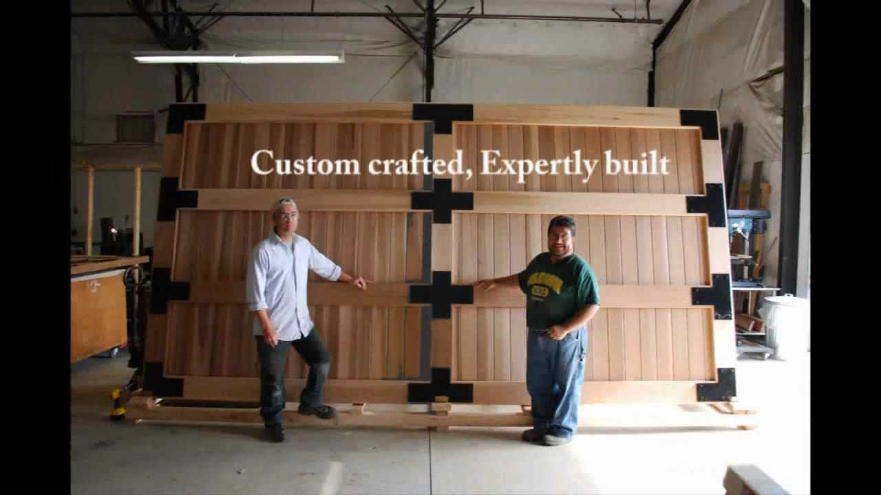 Sederra Custom Crafted Cedar Gates Youtube