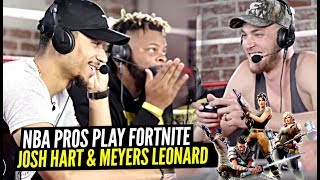 NBA Players Josh Hart & Meyers Leonard Fortnite PROS OFF The Court!? Faze Clan!