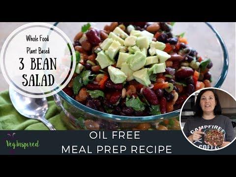 3 Bean Salad | Whole Food Plant Based | Oil Free Recipe