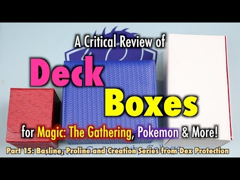 MTG - Deck Boxes 15 - A Review of Dex Protection Deck Boxes for Magic: The Gathering, Pokemon, more!