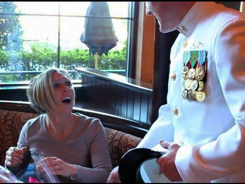 Wife SHOCKED by Surprise return of Navy Husband from Afghanistan!