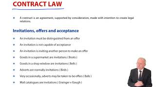 Invitations, offers and acceptance - ACCA Corporate and Business Law (LW) (ENG)