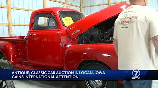 Classic car auction in Logan, Iowa draws international attention