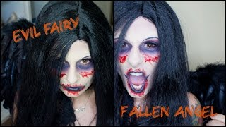 Halloween Makeup Tutorial: Evil Fairy / Fallen Angel