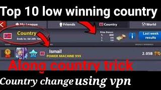 8 ball pool low winning country trick | 8 ball pool country change trick| 8bp along country trick|