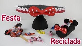 Ideias FÁCEIS E BARATAS – Festa MINIE – Festa Reciclada