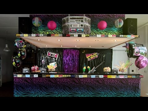 80er jahre party wir dekorieren deine party folge 2 youtube - 80er party dekoration ...