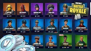 ALL SKINS are DISPONIBLES in FORTNITE BOUTIQUE. 😱