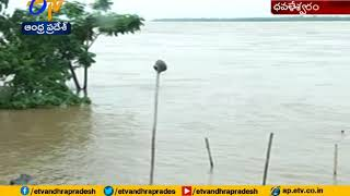 Heavy Water Flow in Godavari River due to Flood Water