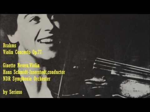 Brahms, Violin Concerto, Neveu