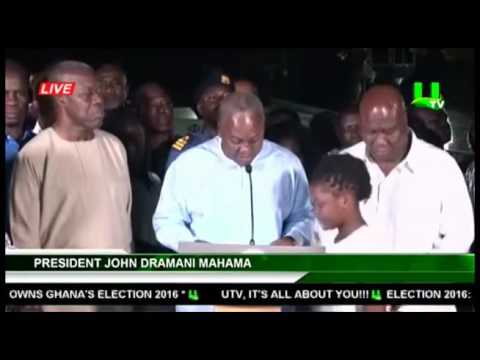 Election 2016: President Mahama's concession speech