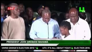 Election 2016: President Mahama's concession speech