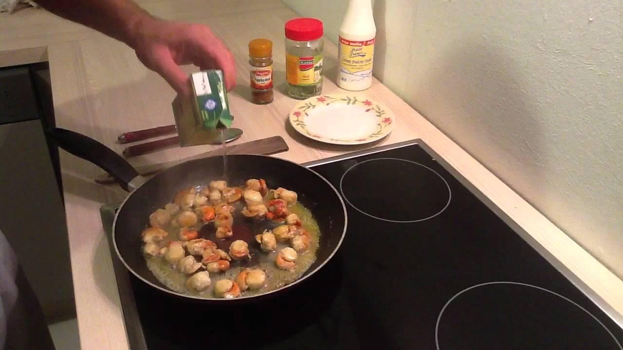 Pr parer des coquilles saint jacques la cr me cuisiner - Comment cuisiner des coquilles st jacques ...