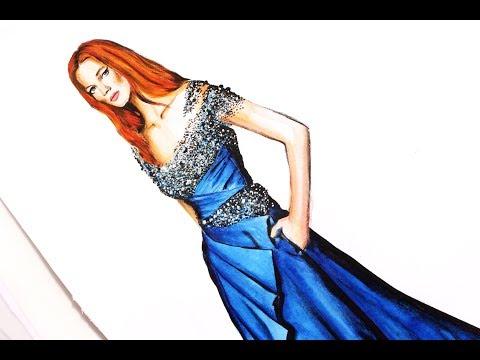 Fashion Illustration - Pamella Roland pre fall 2018 | Nina Mid Illustration