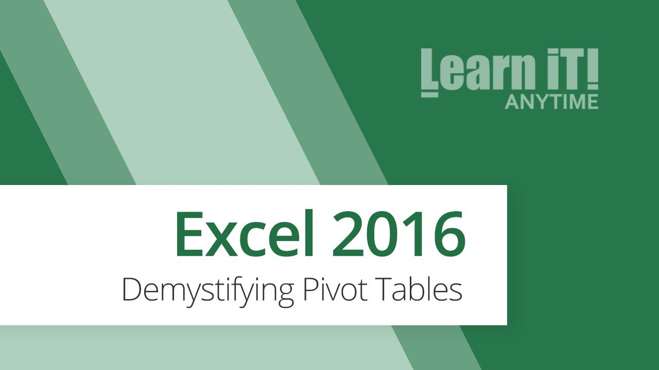 how to create a pivot table in excel 2016 youtube