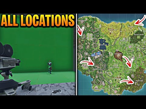 All Fortnite Film Camera Spawn Locations In Fortnite Battle Royale! Fortnite Film Camera Locations!