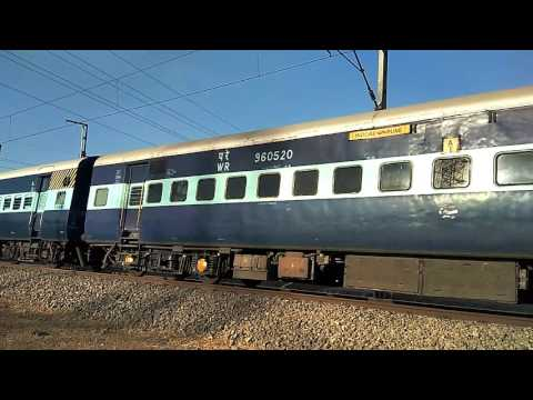 Indore-Pune Express with Angry WAP 5 Amazing pickup and Crazy Honking