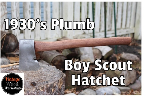 Hand Tool Only Restoration Of Plumb Boy Scout Hatchet With Walnut