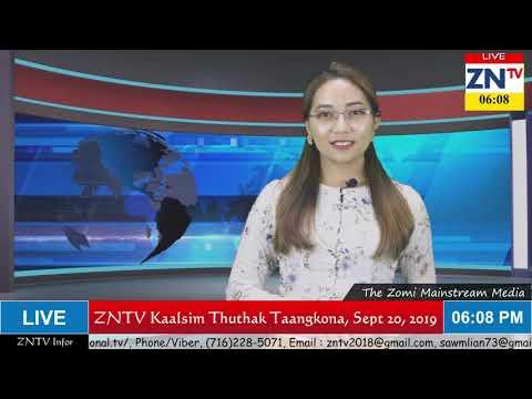 ZNTV Kaalsim Thuthak Taangkona Program, September 20, 2019 (Friday)